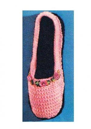 Pattern Vintage Bedroom Slippers, Yarn Shoes