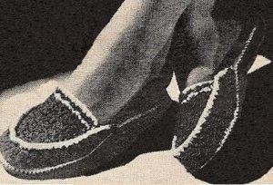 Yarn Crochet Pattern Womens Slippers, Ladies Crochet Yarn