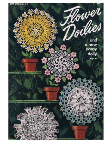 Star  #64 Doilies Crochet Book Vintage Star Pattern Book