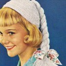 Crochet Pigtail Hat  Pattern Girls Child's Beanie Patterns