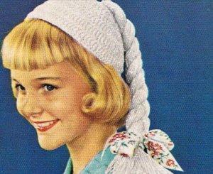 Crochet Pigtail Hat  Pattern Girls Child's Beanie Patterns