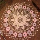 Crochet Placemat  Doily Anemone Placemat Table Setting