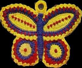 Butterfly Vintage, Crochet Pattern Vintage Potholder