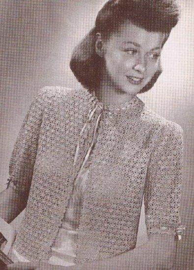 Vintage Pattern, Crochet Bed Jacket Pattern