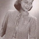 Vintage Pattern, Crochet Bed Jacket Pattern