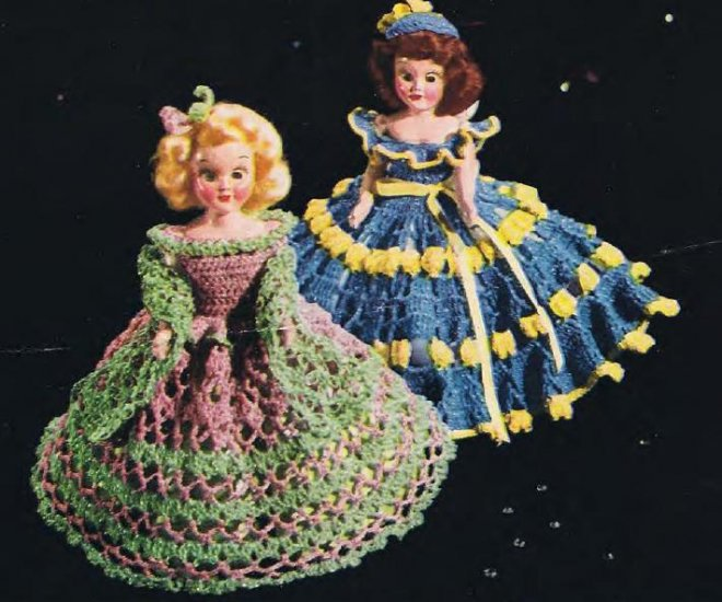 Crochet Doll Dress Patterns Vintage Costumes
