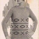 Vintage Knit  Pattern Sweaters Womens Lady Female Patterns