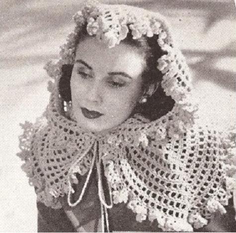 Head Fascinator Crochet  Pattern Scarf Wrap