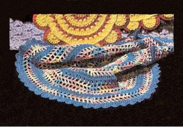 Round Thread Dishcloth Pattern Crochet Thread #10