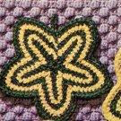 Daisy Star Potholder Vintage Pattern, Crochet