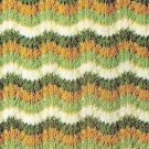 Knit Afghan Pattern Feather Fans Afghan Vintage