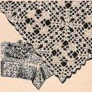 Cross Crochet Filet Tablecloth Patterns, Table Cloth