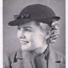 Short Crochet Brim Style, Vintage Hat Pattern