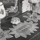 Pineapple Crochet Doily Pattern Vanity Crochet Set