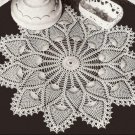 Lace Crochet Pattern Doily 7275 Pineapple Pattern