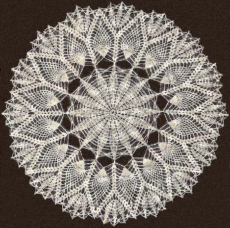 Doily Geometric Star Pineapple Pattern Vintage Crochet