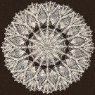 Doily Geometric-Star Pineapple Pattern Vintage Crochet