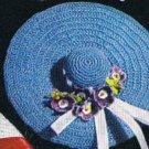 S-338 Crochet Pattern Sun Hat Pincushion/Blue Sachet Pattern