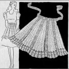 Crochet Apron, Vintage Pdf Pattern Filet ,Crochet Thread Apron