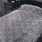 Make Crochet Pattern Bedspread, Irish Rose Flower Squares