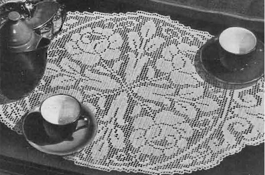 Rose Filet Pattern, Doily Crochet