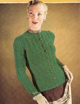 Classic Knit Cardigan Pattern, Vintage Button Cardigan