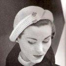 Slit Brim Hat Crochet Ladies Hat Patterns Vintage