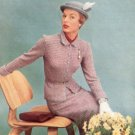 Knit Womens Suit Pattern, Clothing Vintage 50s 12-14-16 Ladies Tri-Color