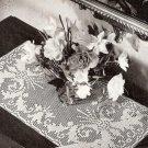 Vintage Crochet Filet Pattern, Mariposa Table Scarf Runner Pattern