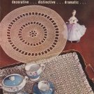 Vtg Crochet Pattern Book Doily Table 319 Book