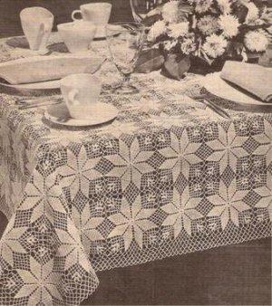 Star Crochet Tablecloth Pattern, Crochet Shining Star Pattern