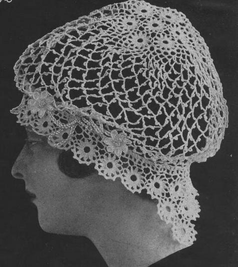Crochet Night Cap Crochet Pattern Antique Snood Pattern