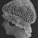 Crochet Night  Cap  Crochet Pattern Antique Snood Pattern