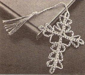 Bible Cross Crochet Pattern, Small Bookmark