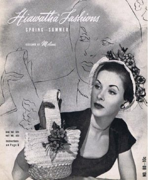 Hiawatha Crochet Hat Patterns, Handbags Book, Vintage Patterns