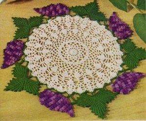 Grape Doily, Crochet Grapes Doily Pattern