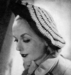 Womens Hat Ladies Pattern, Beret Hat 1940s