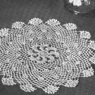 Crochet Pattern Irish Scroll Doily, Vintage Pattern