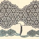 Lace Insertion Pillowcase Edging, Motif Insertion Crochet Pillowcase Edging
