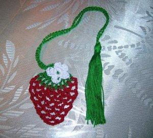 Crochet Strawberry Book Mark Crochet, Pattern  Strawberry Crochet Bookmark Pdf