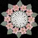 Floral Doily, Crochet Rose Flower Doily Pattern Mat Crochet Doily