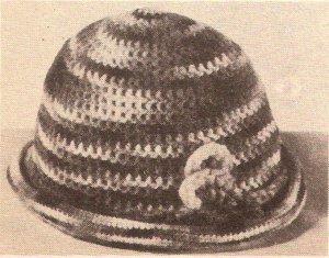 Hat Ladies Crochet Beanie Pattern Vintage