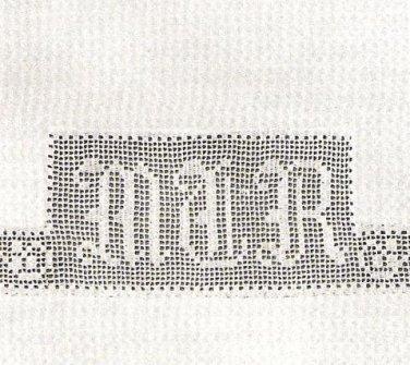 Linen Charted Designs Monograms Filet Crochet Vintage Letters Initials Alphabets