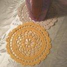 Crochet Small Crochet Doily Coaster, Round Scallop  Edge Pattern