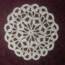 Crochet Round Coaster Pattern Small Doily Cluster Stitch  Coaster