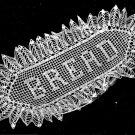 7131 Bread Crochet Thread Tray Pattern Vintage Filet Tray Doily