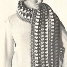 Granny  Crochet Squares Vintage Hat and Scarf Patterns