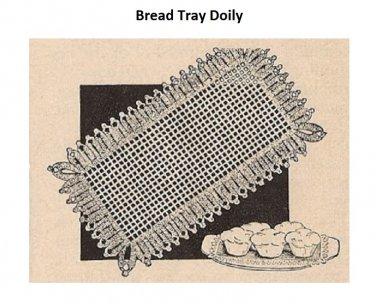 Crochet Bread Tray Doilies ,Filet  Bread Table Mats Pattern