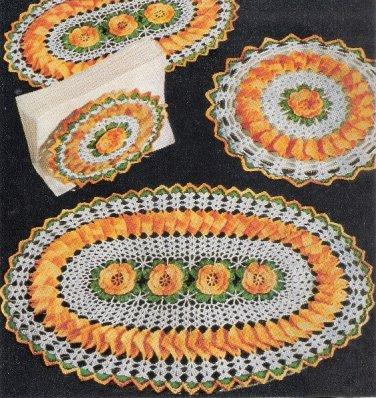 Doilies Easy Crochet Flower Hotmats Rose Motif Patterns