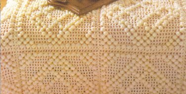 Crochet  Popcorn,  Bedspread Vintage Patterns Bed  Covers Popcorn  Vintage